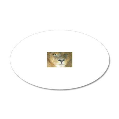 Lion Lposter 20x12 Oval Wall Decal