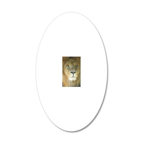 Lion iphone 20x12 Oval Wall Decal