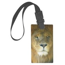 Lion pposter Large Luggage Tag
