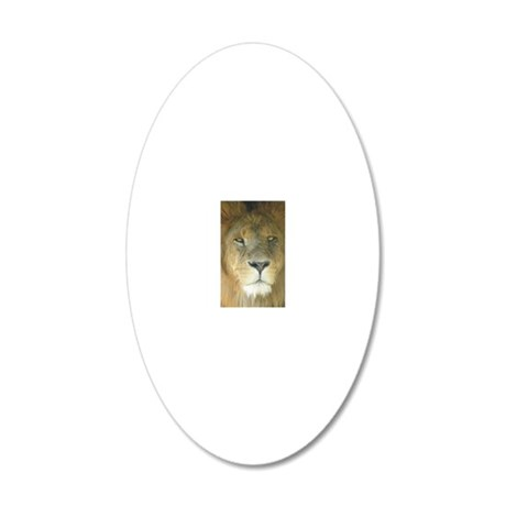 Lion journal 20x12 Oval Wall Decal