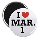 "I Heart March 1 2.25"" Magnet (100 pack)"
