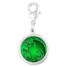 urban griffin green Silver Round Charm
