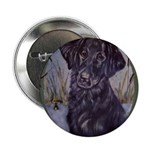 Flat Coated Retriever Button