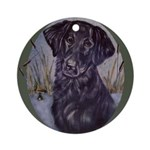 Flat Coated Retriever Ornament (Round)