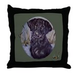 Flat Coated Retriever Throw Pillow