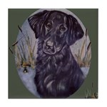 Flat Coated Retriever Tile Coaster