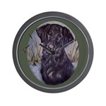 Flat Coated Retriever Wall Clock
