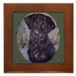 Flat Coated Retriever Framed Tile