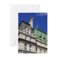 Montreal. View of City Hall building Greeting Card