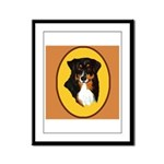 Australian Shepherd design Framed Panel Print