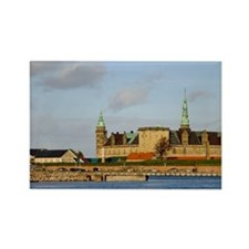 Helsingor. Kronoborg castle at th Rectangle Magnet