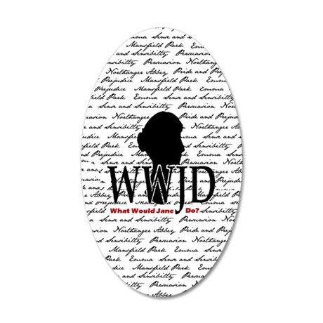 nook_wwjd 35x21 Oval Wall Decal