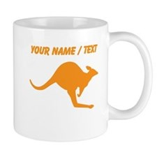 Custom Orange Kangaroo Mugs