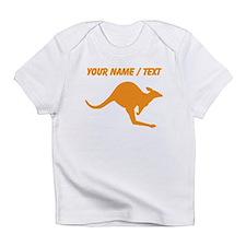 Custom Orange Kangaroo Infant T-Shirt