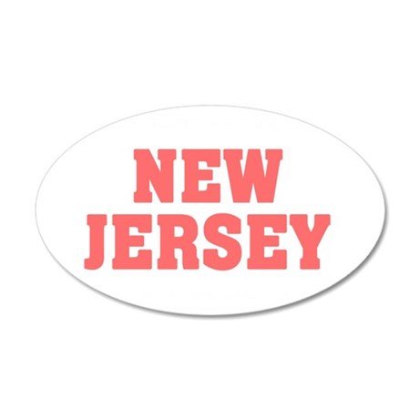 Girl out of new jersey light 35x21 Oval Wall Decal