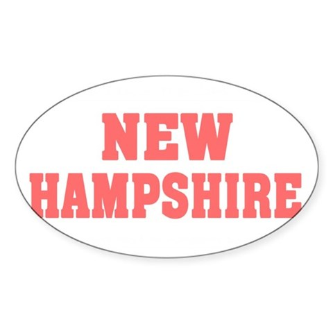 Girl out of new hampshire light Sticker (Oval)