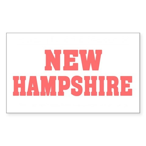 Girl out of new hampshire ligh Decal