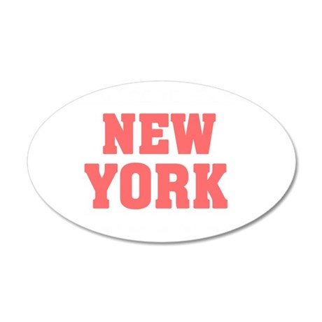 Girl out of new york light 35x21 Oval Wall Decal