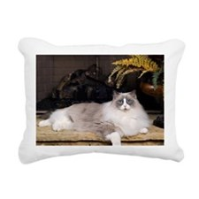 H Sammy fireplace Rectangular Canvas Pillow