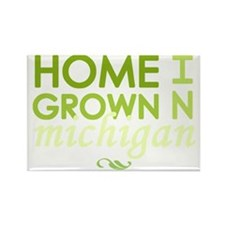 Home grown michigan light Rectangle Magnet