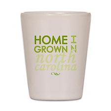 Home grown n carolina light Shot Glass