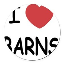 BARNS Round Car Magnet