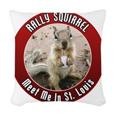 squirrel_st-louis_01 Woven Throw Pillow