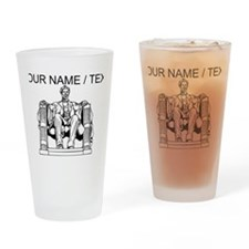 Custom Lincoln Memorial Drinking Glass