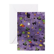PurpleBG Greeting Card