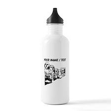 Custom Mount Rushmore Water Bottle