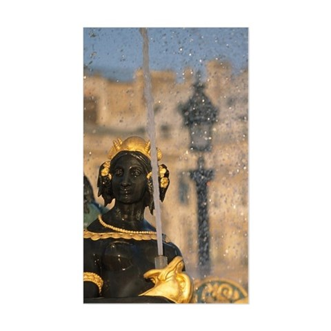Place de la Concorde fountain; Sticker (Rectangle)