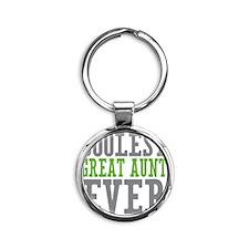Coolest Great Aunt Round Keychain