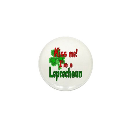 Kiss Me Leprechaun Mini Button