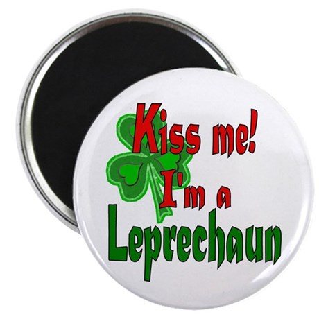 "Kiss Me Leprechaun 2.25"" Magnet (10 pack)"