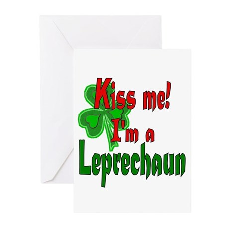 Kiss Me Leprechaun Greeting Cards (Pk of 10)