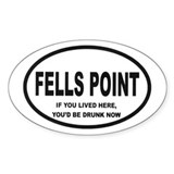 Fells Point Oval Decal