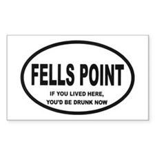 Fells Point Rectangle Decal