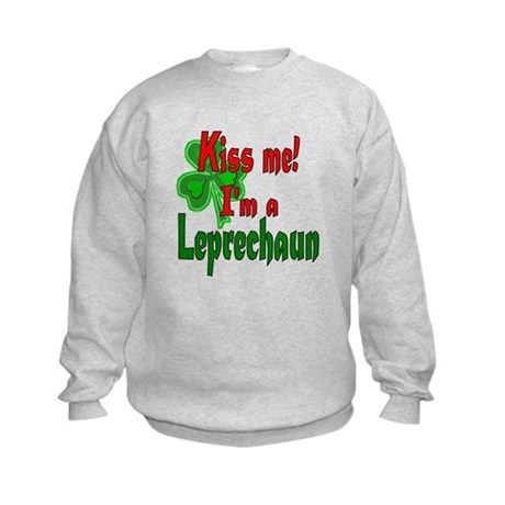 Kiss Me Leprechaun Kids Sweatshirt