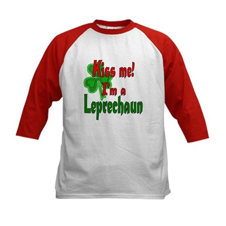 Kiss Me Leprechaun Kids Baseball Jersey