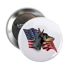 Doberman Flag Button