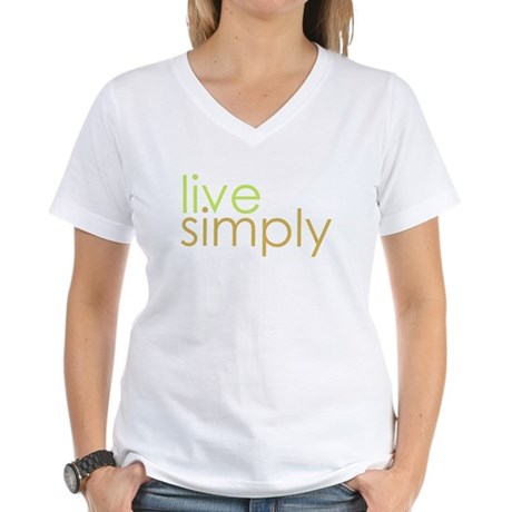 live simply Women's V-Neck T-Shirt