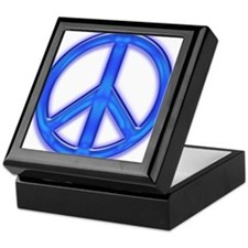 peaceGlowBlue Keepsake Box