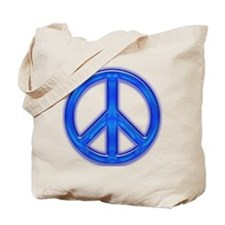 peaceGlowBlue Tote Bag