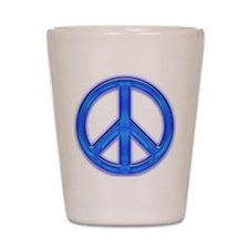 peaceGlowBlue Shot Glass