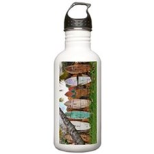 Lined Up Ashore Sports Water Bottle