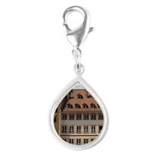 People gather in Cathedral  Silver Teardrop Charm