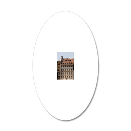 People gather in Cathedral P 20x12 Oval Wall Decal