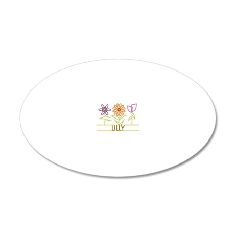 LILLY-cute-flowers 20x12 Oval Wall Decal