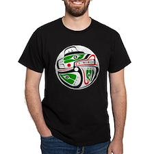 bear-salmon-outerline T-Shirt
