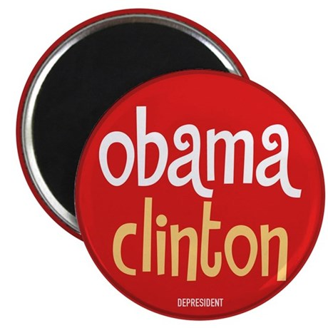 "Obama Clinton 2.25"" Magnet (100 pack)"